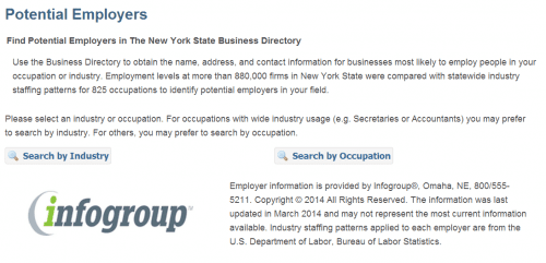 NYS Dept of Labor Potential employer