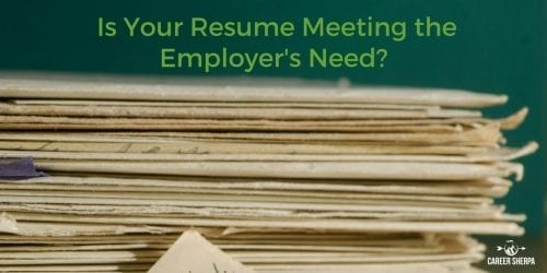 Resume Meeting the Employer's Need-