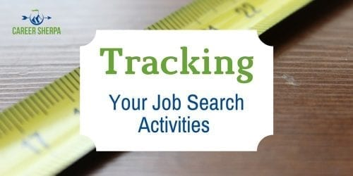 Tracking job search activities