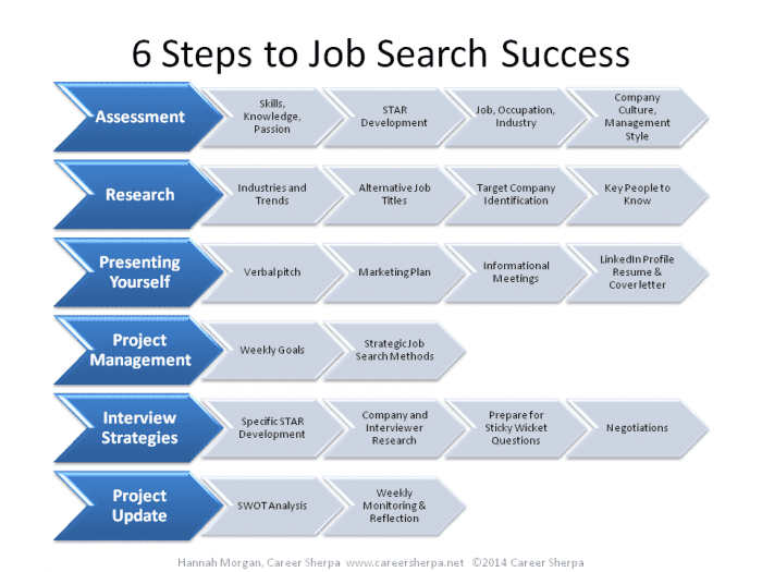 6 steps to job search success