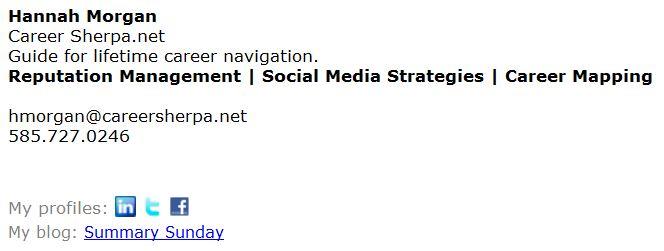 careersherpa email signature
