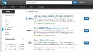 advanced search groups