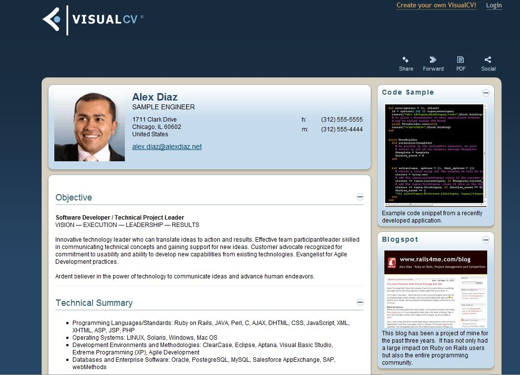 visual cv resume visual cv resume 4903