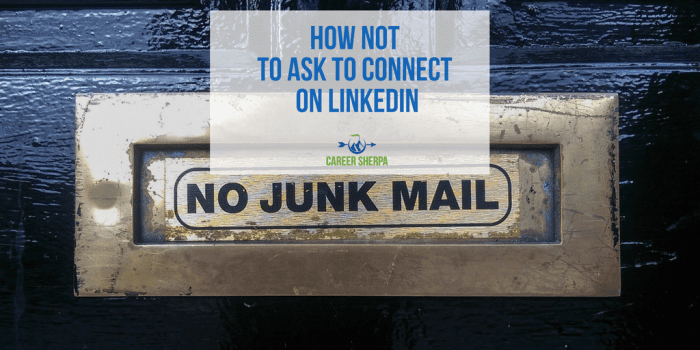 How NOT to ask to connect on LinkedIn