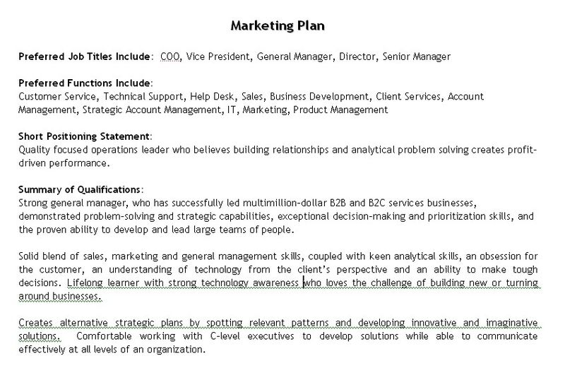 example of marketing plan