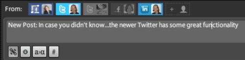 Tweetdeck shares with LI and FB