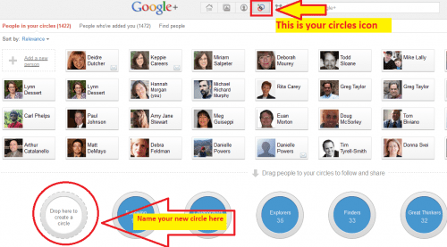 creating googlePlus circles