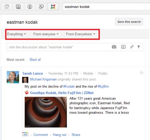 googleplus search
