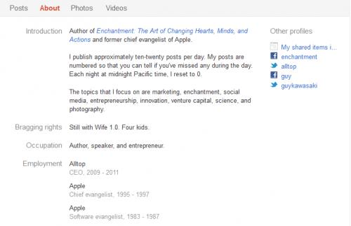 Kawasaki Google+ profile