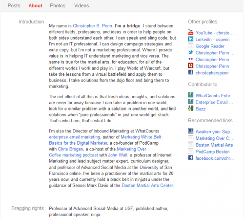 Penn Google+