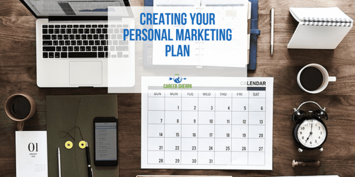 Creating Your Personal Marketing Plan