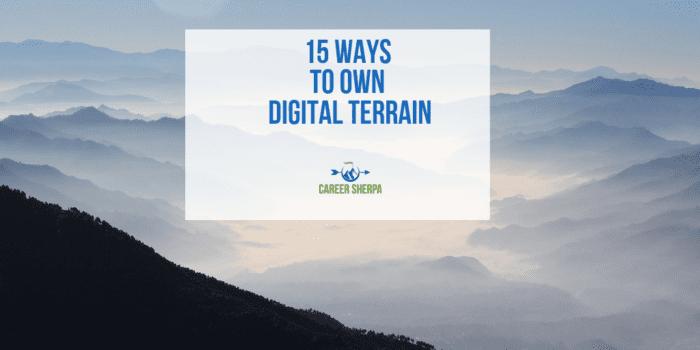 15 Ways to Own Digital Terrain