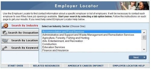 employer locator careerinfonet