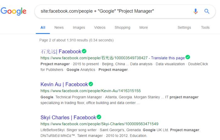 Boolean search facebook