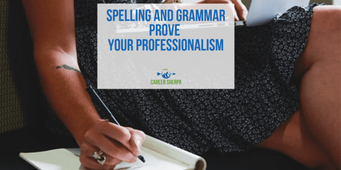 Spelling and Grammar Prove Your Professionalism