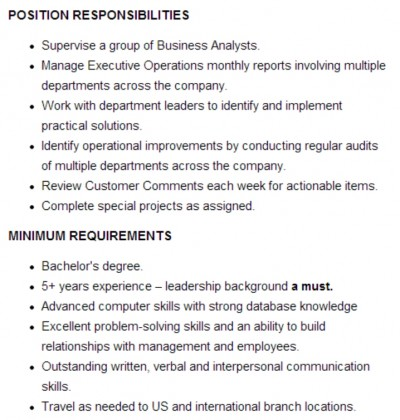 It Job Description. Bentley Administrator Job Description Proposal