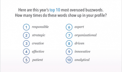 LI overused buzzwords
