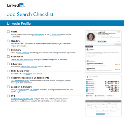 Linkedin job search tip sheet