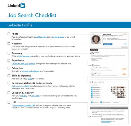 Linkedin job search tip sheet
