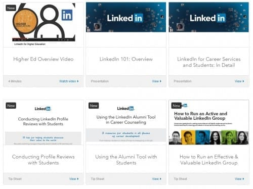 linkedIn resources career services