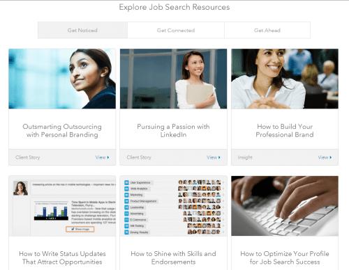 linkedin job search resources
