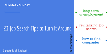23 job search tips to turn it around #summarysunday