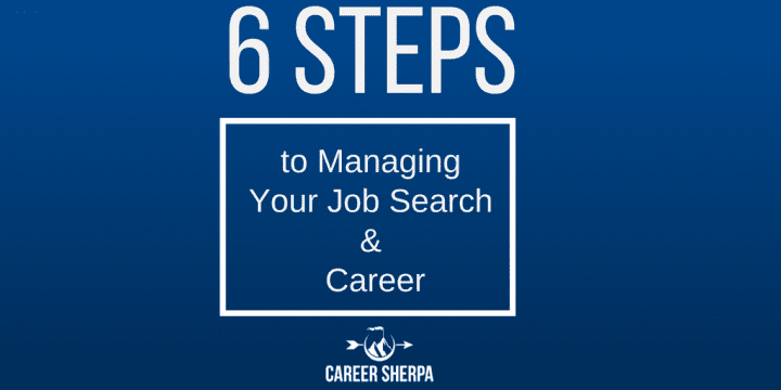 steps to manage job search