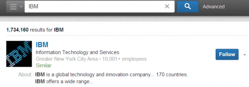 follow companies on LinkedIn