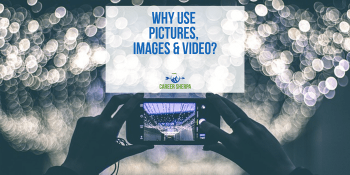 Why Use Pictures Images and Video