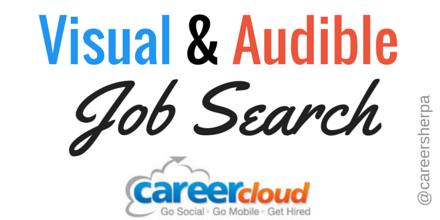 Visual and Audible Job Search @careersherpa