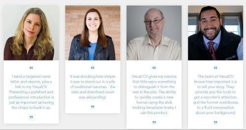 visualcv success stories