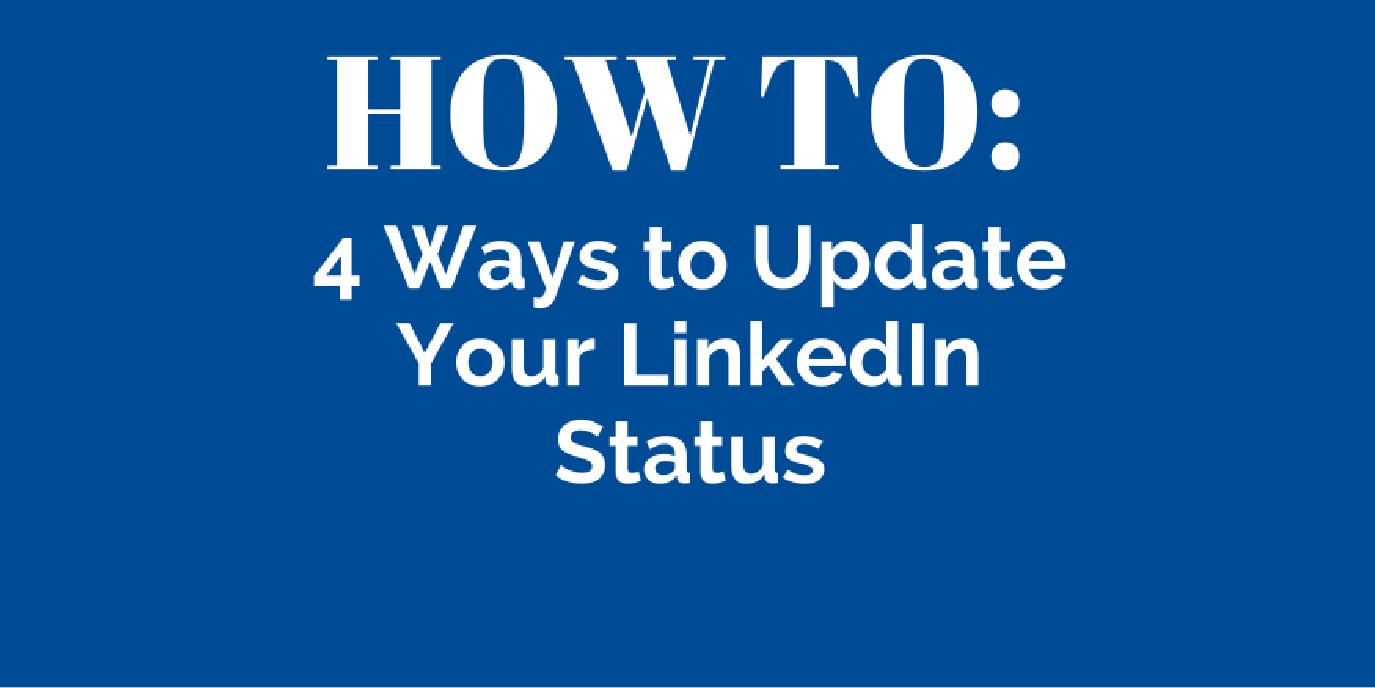 how to update LinkedIn status