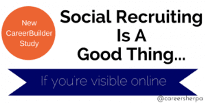 Social Recruiting Is A Good Thing…If you're visible online [INFOGRAPHIC]