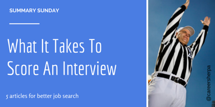 What it takes to score an interview