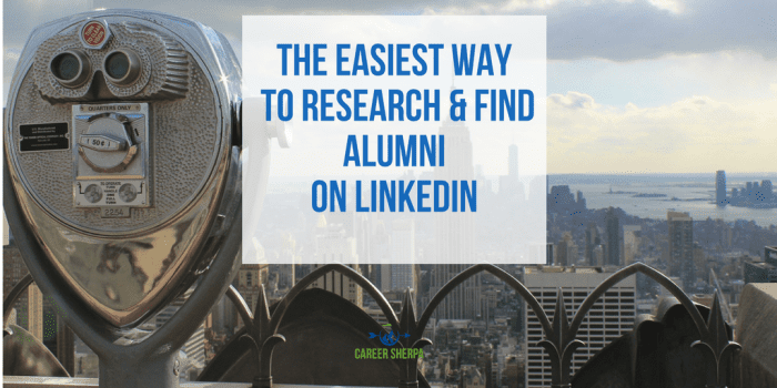The Easiest Way to Research and Find Alumni on LinkedIn