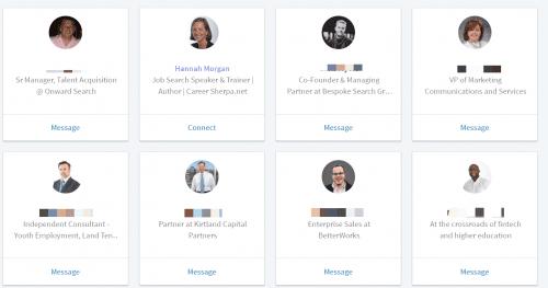 new LinkedIn alumni people