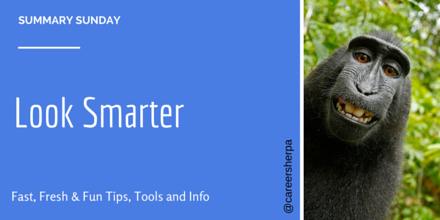 Summary Sunday- Look Smarter @careersherpa