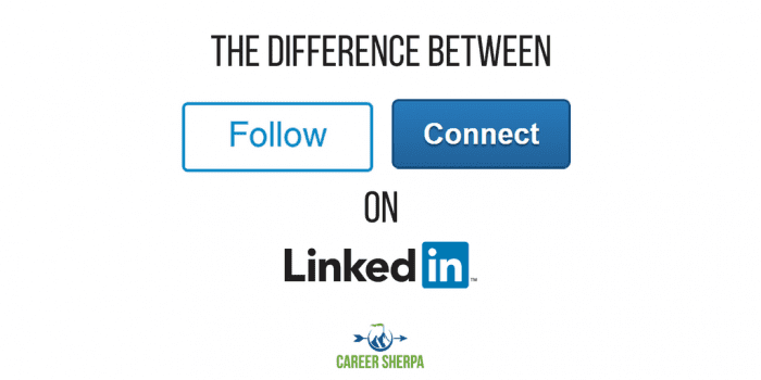 following connecting LinkedIn