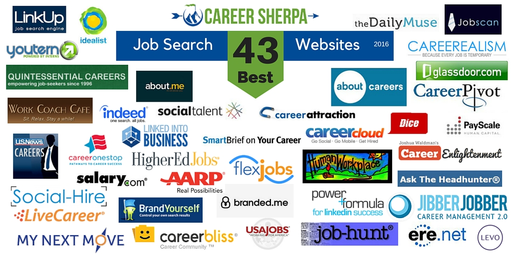 43 best job search websites 2016 career sherpa