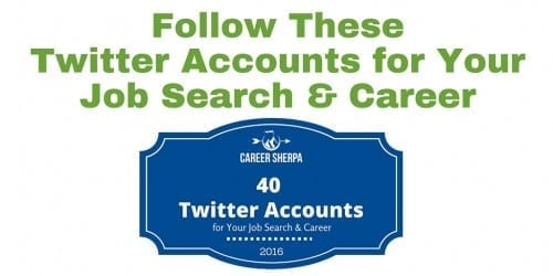 40 Twitter Accounts for job search