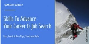 Summary Sunday: Skills To Advance Your Career and Job Search