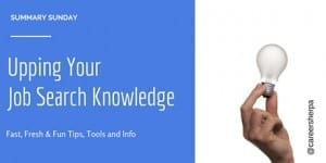 Summary Sunday: Upping Your Job Search Knowledge