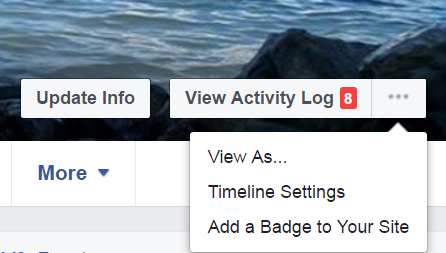 Facebook view profile as