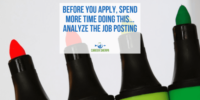 Spend More Time Analyze The Job Posting
