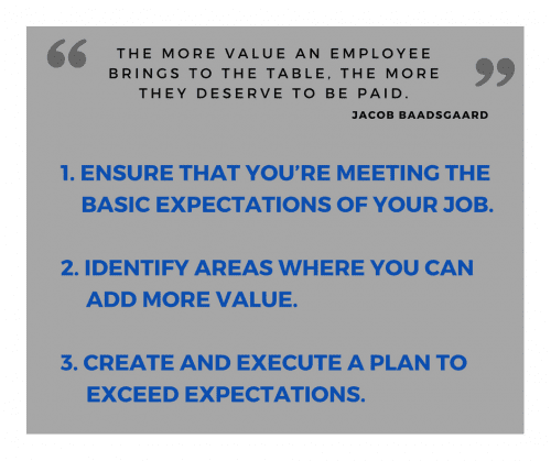 add value for pay increase