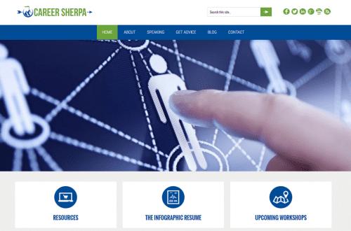 new careersherpa website
