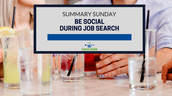 be social during job search