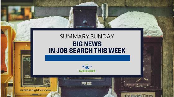 big news in job search
