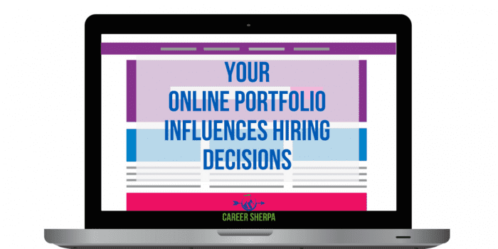 Online Portfolio Influences Hiring Decisions