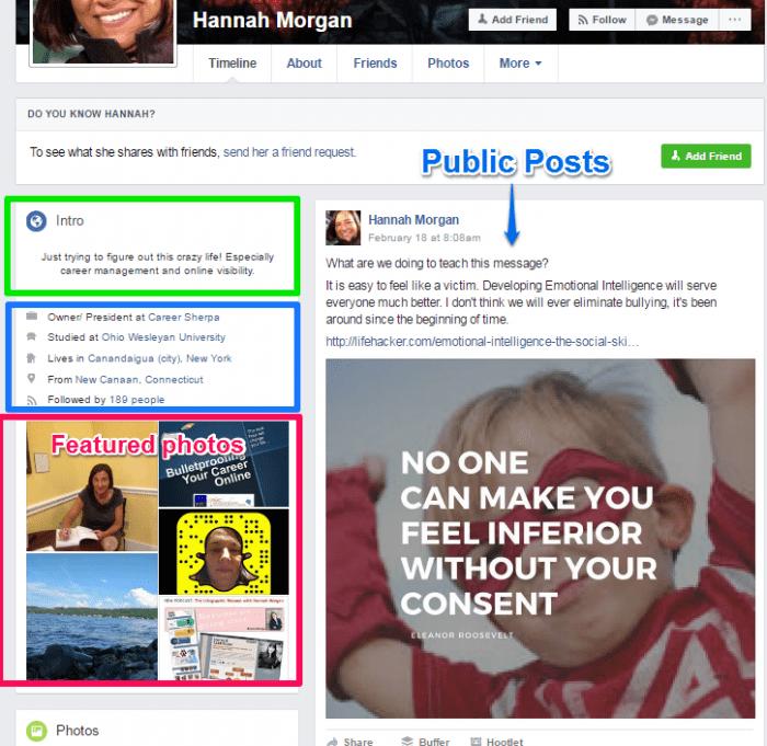 Facebook public profile